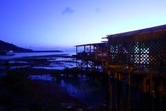 Tai O, klein de visserijdorp van A in Hong Kong Stock Afbeeldingen