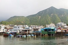 Tai O water village in Hong Kong at day Royalty Free Stock Images