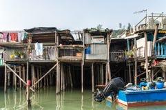 Tai O wioski rybackiej stilt domy w Hong Kong Obrazy Royalty Free