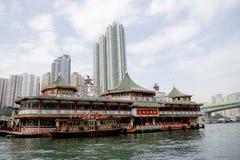 Tai Pak som svävar restaurangen i Hong Kong Arkivfoto