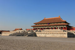Tai He Palace. It is the centre of china in the empire time. This palace was the hall of the emperor Stock Photography