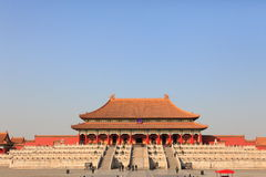 Tai He Palace. It is the centre of china in the empire time. This palace was the hall of the emperor Stock Photo
