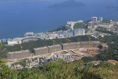 Tai Po Tsai περιοχή του νέου buliding προγράμματος παγκόσμιων σπιτιών Στοκ Εικόνες