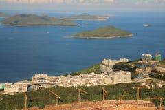 Tai Po Tsai miejsce Nowego światu domowy buliding projekt Fotografia Stock
