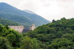 Tai Tam Reservoir i Mount Parker, Hong Kong arkivbild