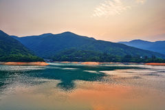 Tai Tam Tuk reservoir afterglow Stock Image