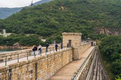 Tai Tama rezerwuar w górze Parker, Hong Kong obraz royalty free
