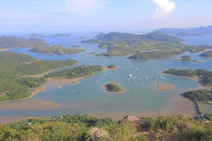 Tai Tun view of  sai kung Royalty Free Stock Images