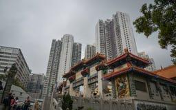 Tai van Wong de Tempel van de Zonde in Hongkong Royalty-vrije Stock Afbeelding