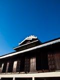 Tai Yai ξύλινη αρχιτεκτονική μοναστηριών στο μπλε ουρανό σε Pai, Mae Ho στοκ φωτογραφίες