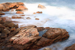 Taichi cloudy wave. A cloudy wave is along the coast stock images