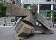 Taichi by Ju Ming. MONTREAL QUEBEC CANADA 06 12 17: Taichi by Ju Ming is a Taiwanese sculptor who attained fame in Taiwan Stock Image