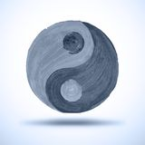Taichi yin and yang. Watercolor Background. Grunge Stock Photography