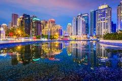 Taichung, εικονική παράσταση πόλης της Ταϊβάν Στοκ Φωτογραφίες
