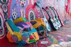 TAICHUNG, ТАЙВАНЬ - 14-ОЕ АПРЕЛЯ: Деревня радуги, красочное graff Стоковые Изображения RF