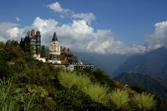 Taichung mountains. Western cottage hotels in Taichung, Taiwan Stock Photo