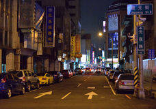Taichung street night view Stock Images