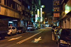 Taichung street night view Royalty Free Stock Photography
