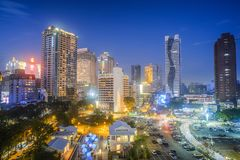 Taichung, Taiwan - 24 de fevereiro de 2018: Destinos famosos do curso de Taiwan Imagem moderna do conceito do negócio de Ásia Fotografia de Stock Royalty Free