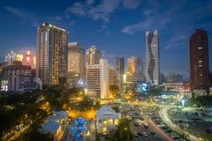 Taichung, Taiwan - 24 de fevereiro de 2018: Destinos famosos do curso de Taiwan Imagem moderna do conceito do negócio de Ásia Fotos de Stock Royalty Free