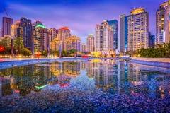Taichung Taiwan horisont royaltyfria bilder