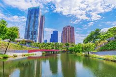 Maple Garden park in Taichung royalty free stock image