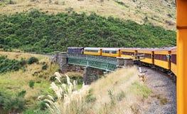 Taieri gorge railway. Traveling Taieri gorge , New Zealand stock images
