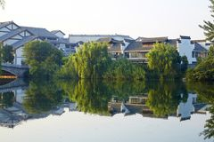 Taierzhuang Ancient City, China stock photography