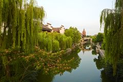 Taierzhuang City in greens, Shangdong, China