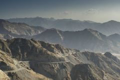Taif山在沙特阿拉伯 库存图片