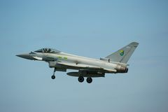 Taifun Eurofighter an der Sunderland-Flugschau lizenzfreie stockfotografie