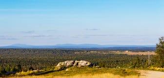 Taiga and ural mountains Stock Image