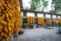 Taihang small farm house Stock Images