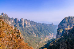Taihangshan Mountains Royalty Free Stock Image