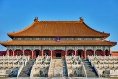 Taihedian hem av suveräna Harmony Imperial Palace Forbidden City Royaltyfri Foto