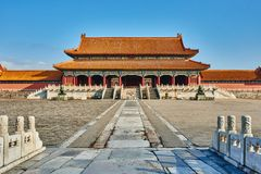 Taihemen-Tor von Oberster Harmony Forbidden City Stockfotografie