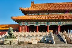 Taihemen-Tor von Oberster Harmony Imperial Palace Forbidden City Stockfotografie