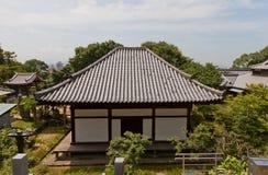 Taihoji tempel & x28; 13th c & x29; i Matsuyama Nationell skatt av Japa Arkivbild