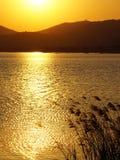 Taihu jeziora zmierzch Obraz Stock