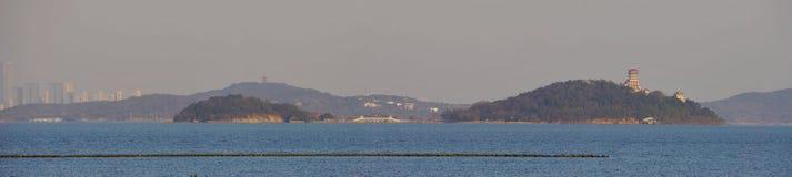 Taihu jezioro i Sanshan wyspy Obrazy Royalty Free