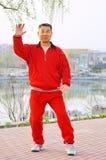 taiji för spelrum för boxningman gammal Fotografering för Bildbyråer