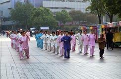Taiji het quan_Morning Royalty-vrije Stock Fotografie