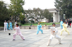 Taiji performance Royalty Free Stock Image