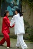 Taiji Pushing Hands Stock Photo