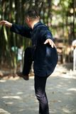 Taiji Quan. Chinese Wushu-Taiji Quan in ChongQing ,WestSouth of China Royalty Free Stock Photo