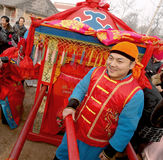 TaiJiaoZi sedan chair, the people Stock Images