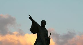 Taiki Statue, Yomitan Village, Okinawa Japan. This photo was taken December 2010. The Statue honors Taiki, the first man from Okinawa to be sent to China to stock image