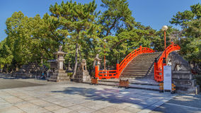 Taiko Bashi at Sumiyoshi Grand Shrine in Osaka Stock Photography