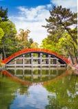 Taiko Drum Bridge do santuário grande de Sumiyoshi Taisha fotografia de stock royalty free
