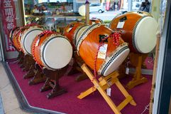 Taiko drum shop Stock Photos